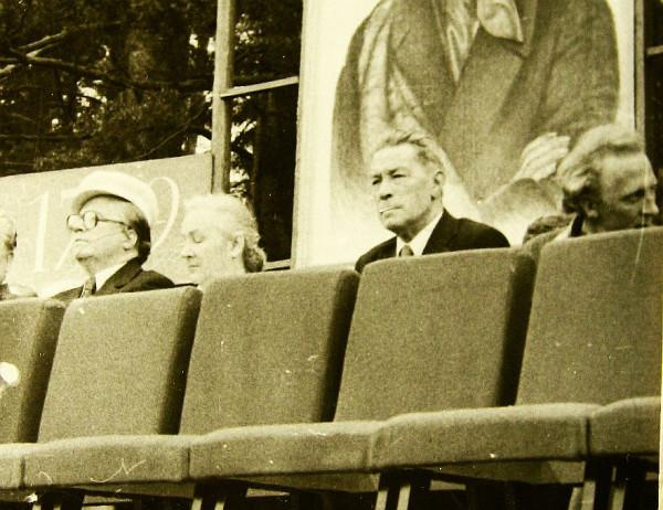 Григорий Пушкин второй справа 1980
