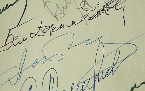 Автограф Бема Джимбинова 1967