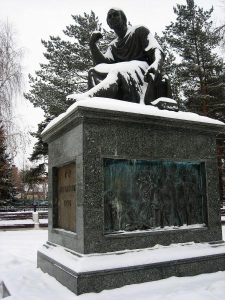 Памятник Державину в Казани 2019