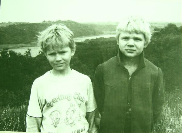 Раймо и Андрес у Мальского озера 1989 год