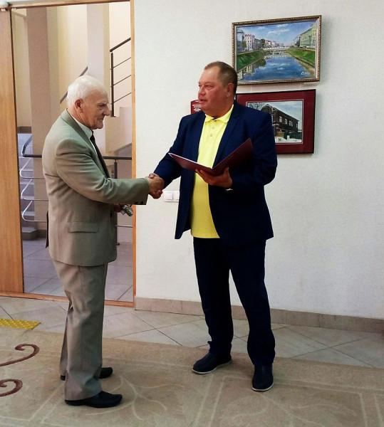 Грамота Геннадию Егорову 1 июля 2019
