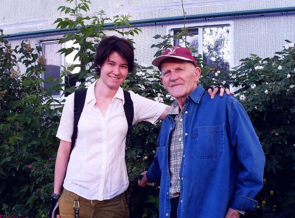 Фарида и дед Егоров Казань 2014