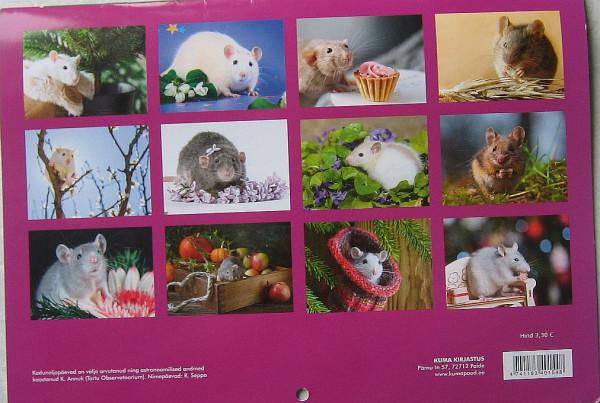 Эстонский календарь к году Крысы