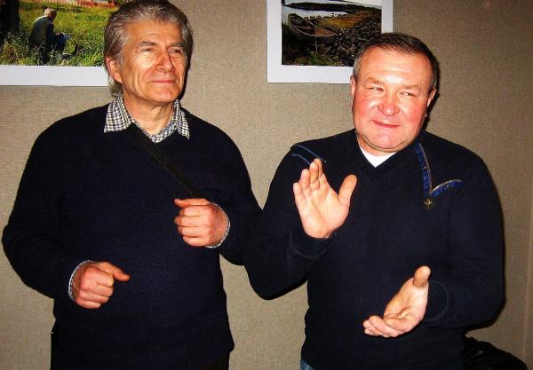 Натан Солодухо слева