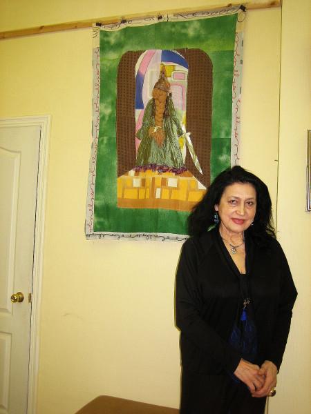 Татьяна Гнездилова у своей работы