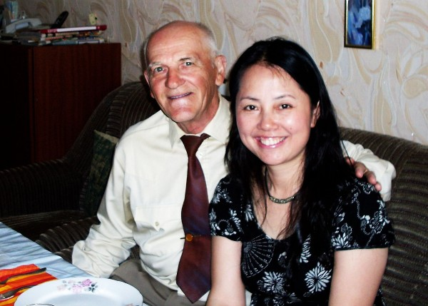 Егоров Геннадий с китаянкой 2010 год