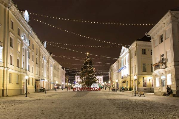 Ёлка в центре Тарту