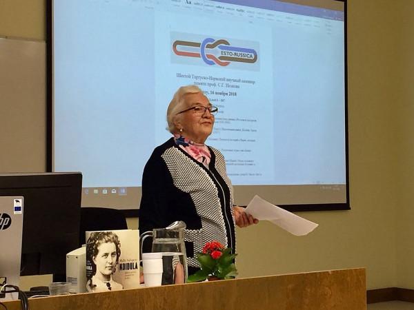 Малле Салупере на семинаре  2018