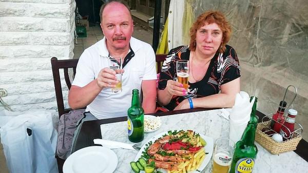 Владимир Булгарин с женой Вилье Таллинн