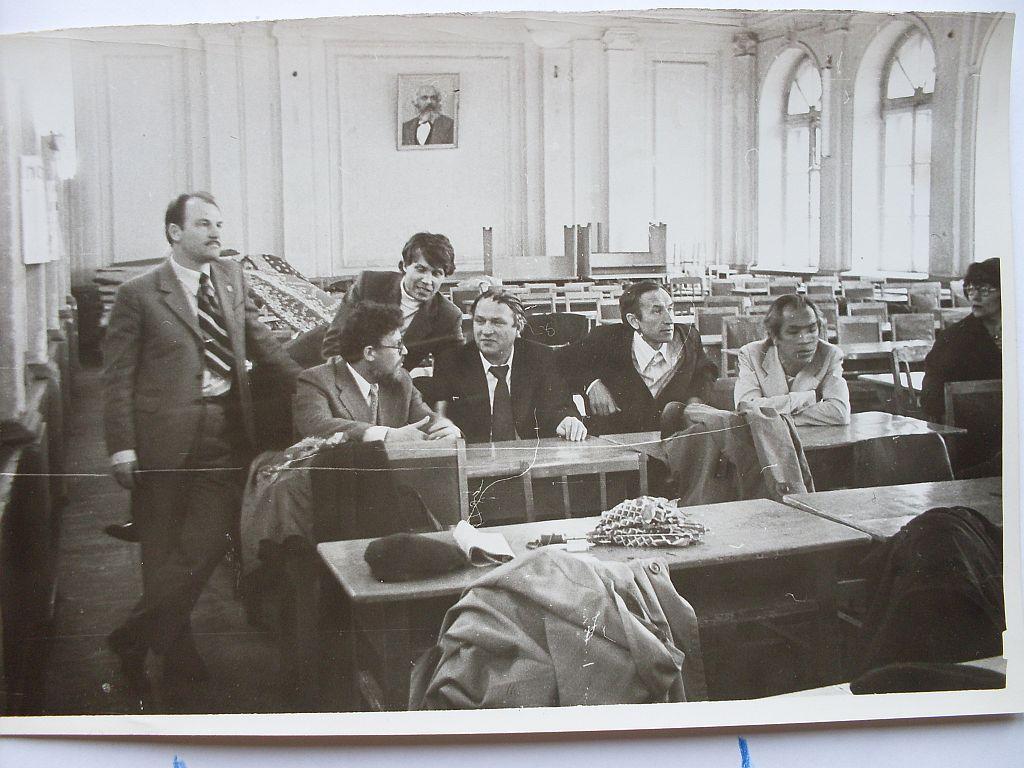 Мы в 1980 в акт зале ГГУ
