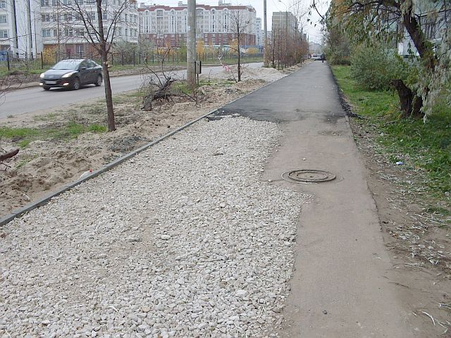 Труба под тротуаром