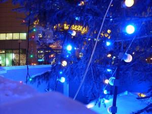 Лампочки синие