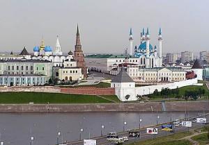 Вид казанского кремля
