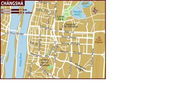 карта чанши