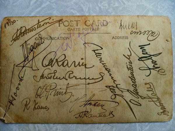 Подписи музыкантов 1930