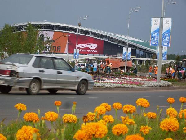 вид на главный стадион