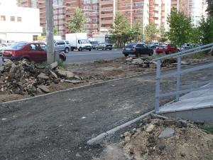 Тротуары обновляются