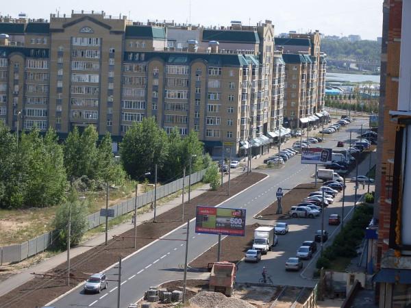 Начало улицы Адоратского в Казани