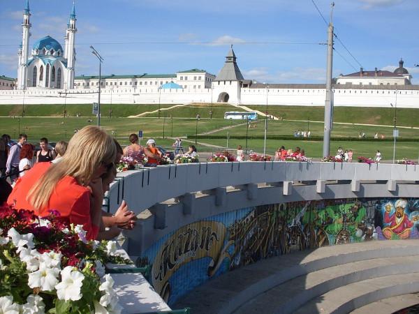 Вид на кремль от Булага