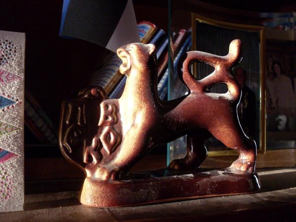 Псковский барс 2 из глины 2004