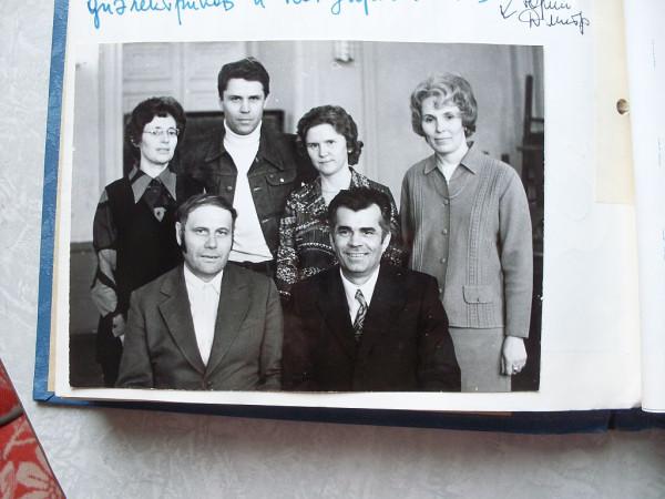 Проф Карпович с первым выпуском 1978