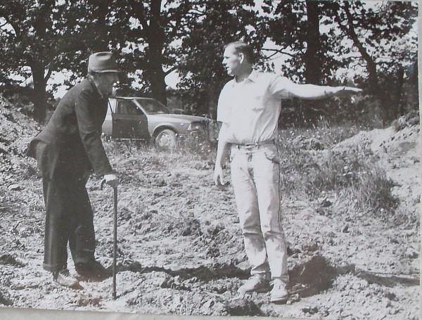 Эду и сын Рейн на хуторе в 1992