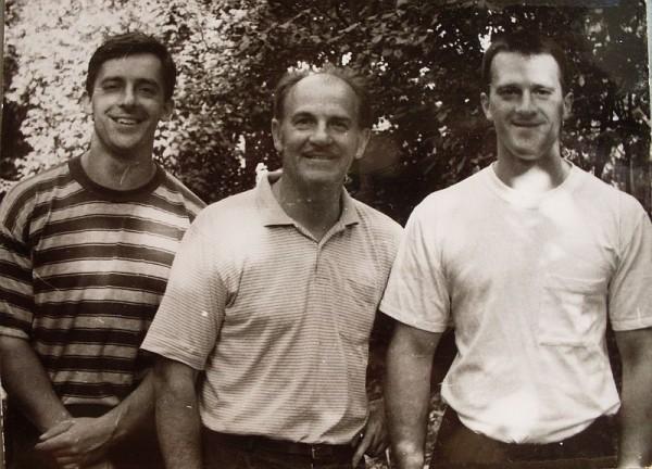 Егоров с сыновьями 1994 год