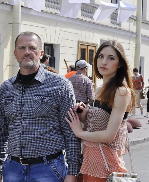 Сергей и Катя Егоровы 2014 год в Петербурге