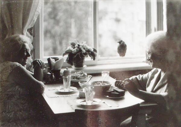 С.В.Грязнова (слева) и Л.А.Батова 1994 год