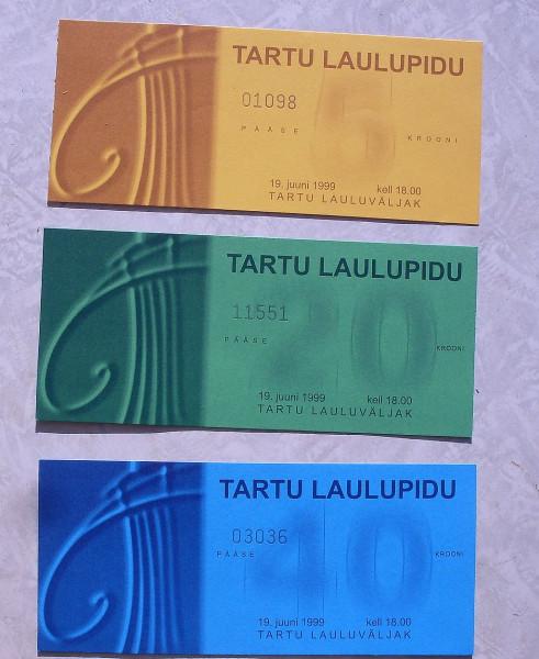 Билеты в Тарту на певч праздник 1999 год
