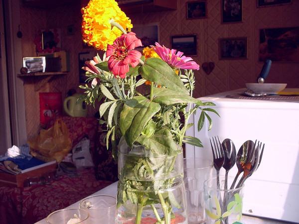 Осенний букет на кухне