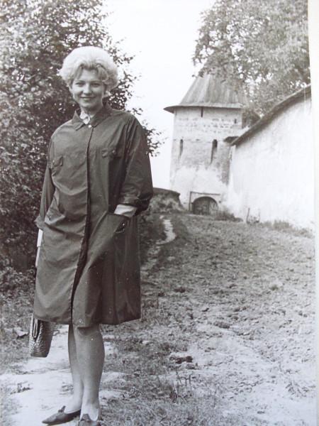 Н.Ф.Артемьева в Печорах, 1967