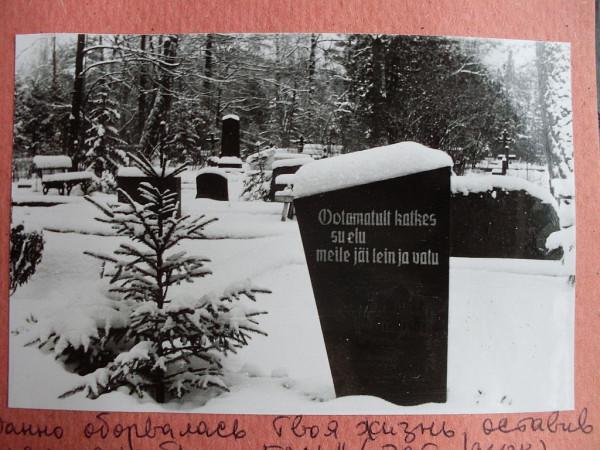 Voru kalmistu 8 talvel