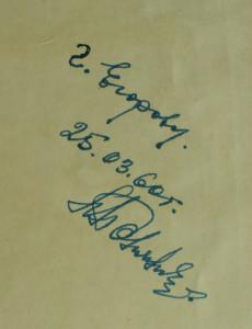 Первый автограф от 1960