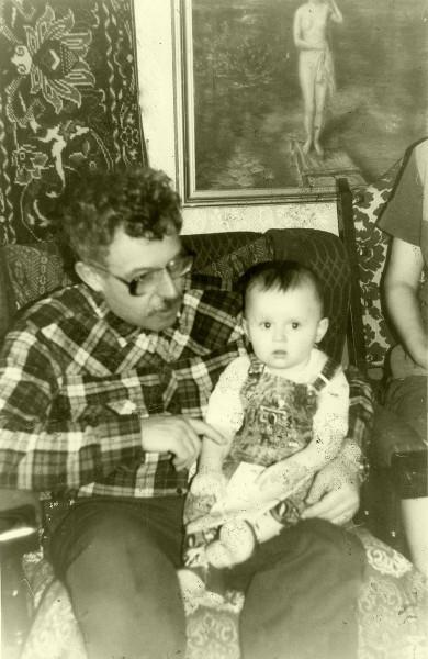 В.Н.Генкин с внуком 1990 год