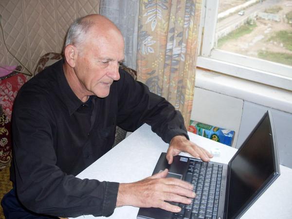 Егоров с ноутбуком 2008