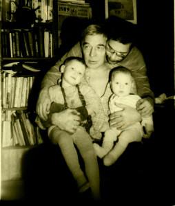 Яшин с сыном и внуками