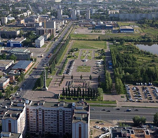 Панорама парка Победы в Казани