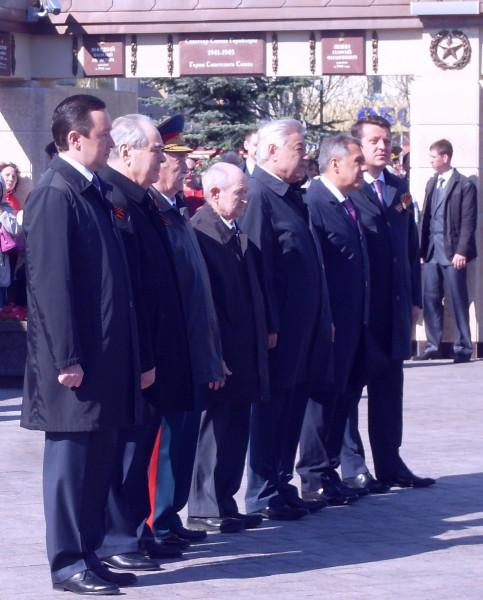 Второй справа - президент, второй слева-Шаймиев