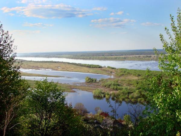 река Ока с горбатовского откоса