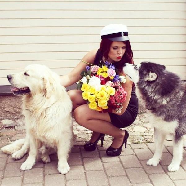 Эстонка с собаками