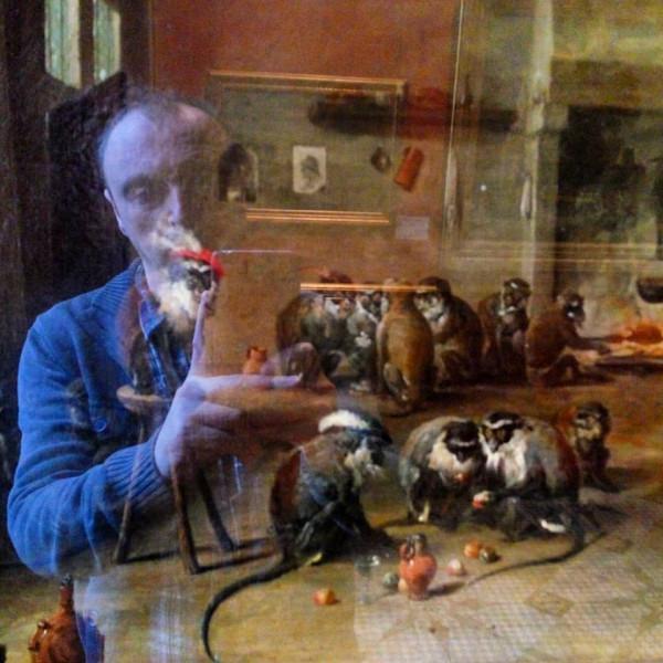 Автопортрет Лейбова с обезьянами