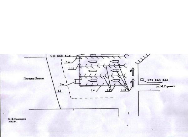Постановление по разметке (схема)