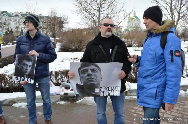 Пикет памяти Немцова2