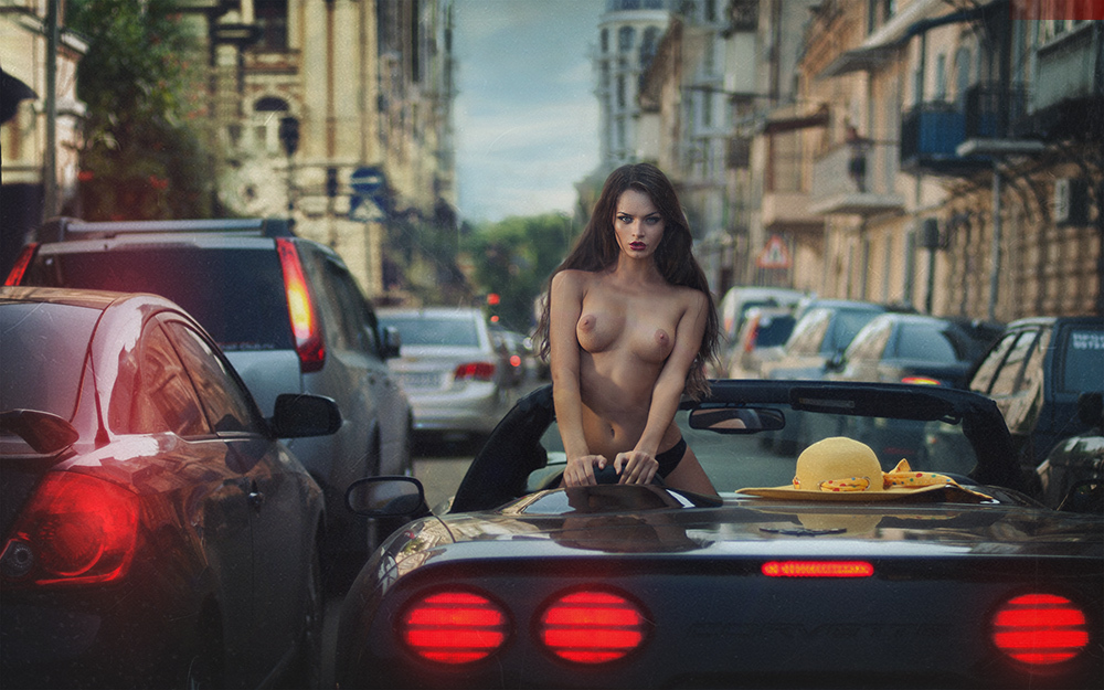 Naked girl and guy in car tumblr — img 1