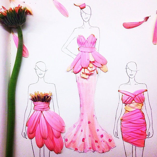 Clever-Fashion-Illustrations-With-Real-Flower-Petals-As-Clothes-1__605