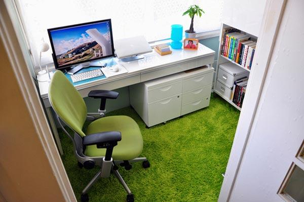 green-home-office-design
