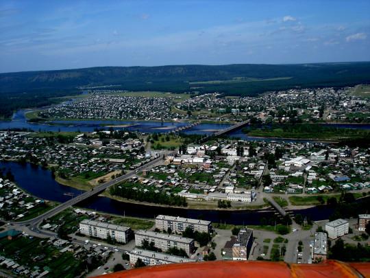 Нижнеудинск с высоты птичьего полета. фото с Интернета