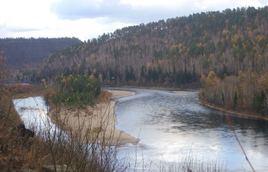 река Уда, г. Нижнеудинск