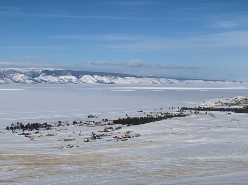 поселок Хужир на острове Ольхон, Байкал.
